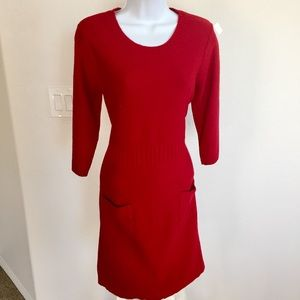 Bodycon Sweater Dress With Pockets PL